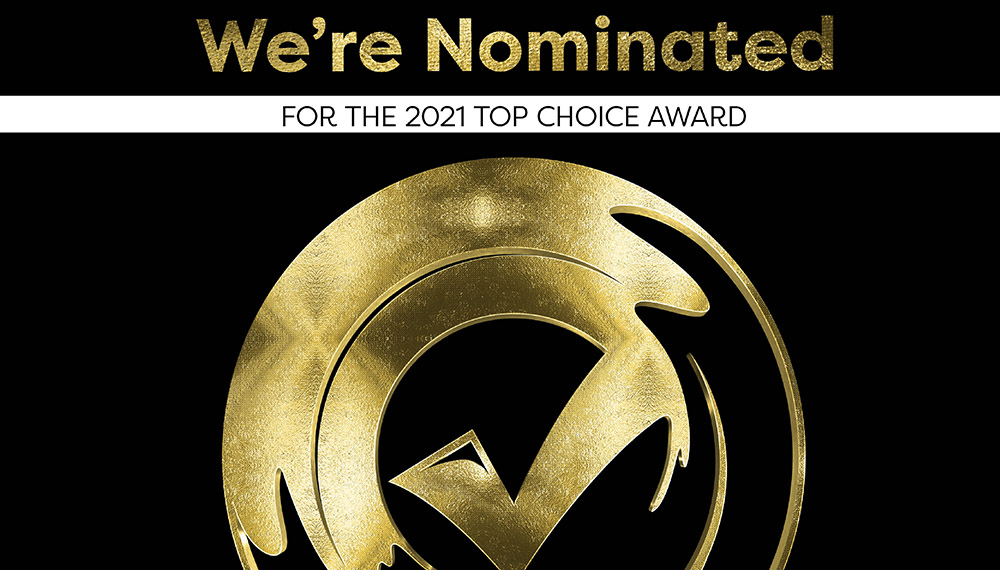 Now is the time to vote for Top Choice Awards.  We'd appreciate  Your Vote today!