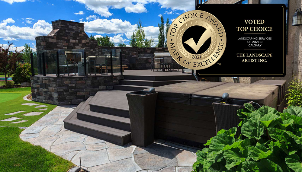 The Landscape Artist wins the top choice award or best landscaping services in Calgary for 2021
