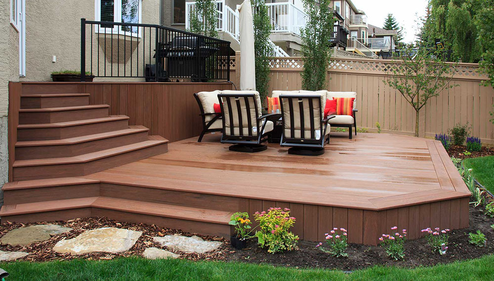 Composite deck added to Calgary landscaping project