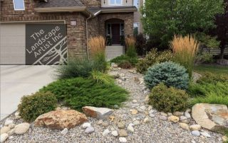 Options for front yard landscaping with no grass