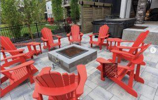 Modern backyard patio