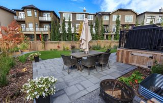 Landscaping at Aspen 001 project in Calgary