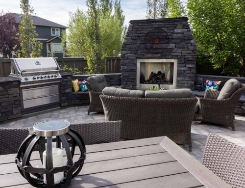 Outdoor kitchens and backyard fireplaces